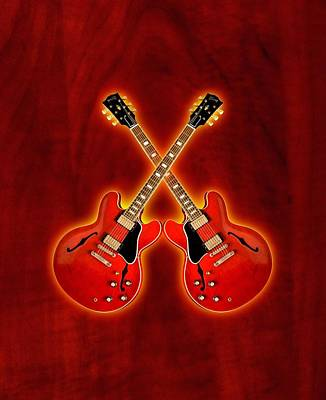 Gibson Es 335 Poster by Doron Mafdoos