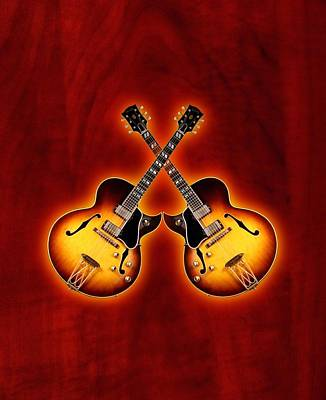 Gibson Jazz Poster by Doron Mafdoos