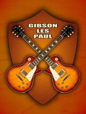 Gibson Les Paul Standart  Shield Poster by Doron Mafdoos