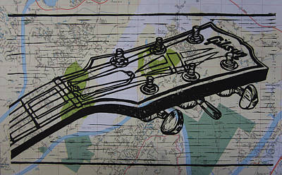 Gibson On Map Poster