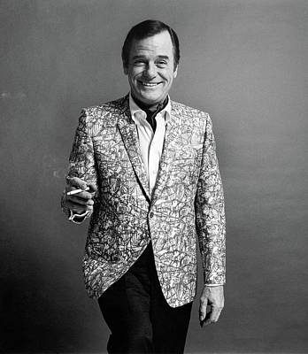 Gig Young Smoking Poster by Leonard Nones