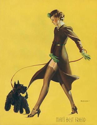 Gil Elvgren's Pin-up Girl Poster
