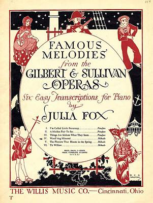 Gilbert And Sullivan Operas Poster by Mel Thompson