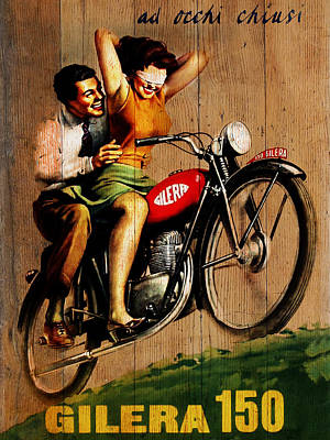 Gilera 1949 Poster by Mark Rogan