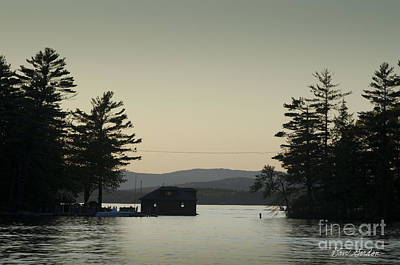Gilford Harbor Boathouse Poster by David Gordon