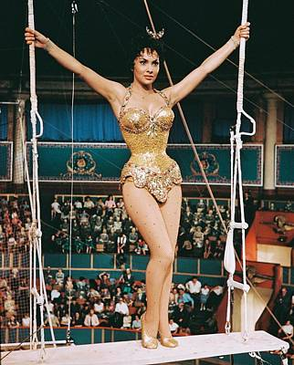 Gina Lollobrigida In Trapeze  Poster by Silver Screen