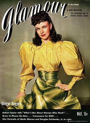 Ginger Rogers On The Cover Of Glamour Poster by Artist Unknown