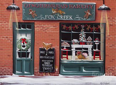 Gingerbread Bakery At Fox Creek Poster