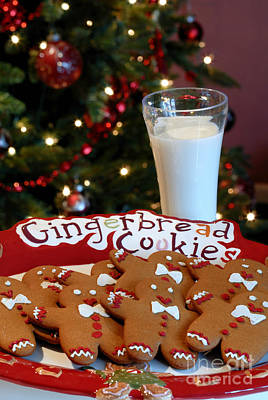 Gingerbread Cookies On Platter Poster by Amy Cicconi