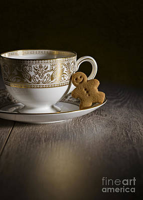 Gingerbread With Teacup Poster by Amanda Elwell