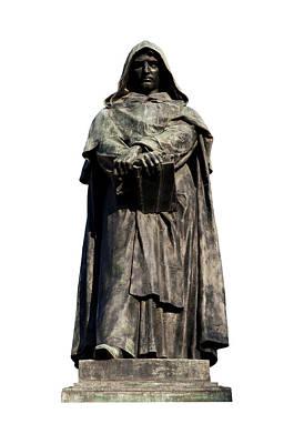 Poster featuring the photograph Giordano Bruno by Fabrizio Troiani