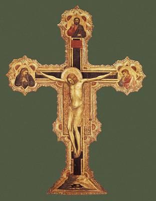 Giotto Di Bondone 1267-1337. Crucifix Poster by Everett