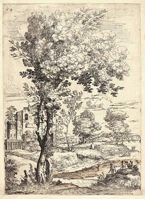 Giovanni Francesco Grimaldi Italian, 1606 - 1680. Landscape Poster by Litz Collection