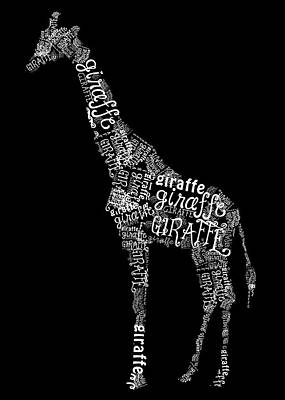 Giraffe Is The Word Poster