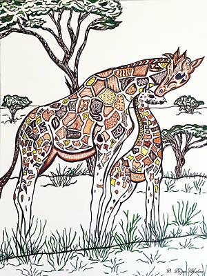 Giraffe Zen Poster by Darla Malone