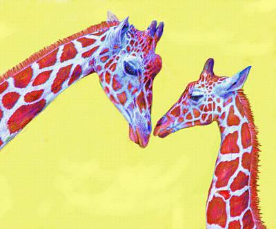 giraffes III Poster