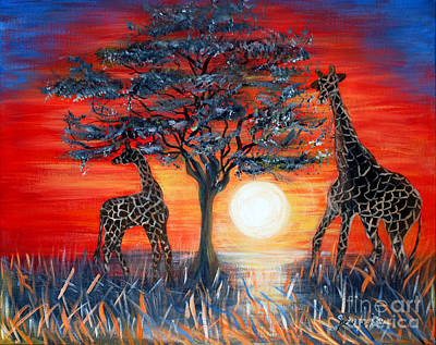 Giraffes. Inspirations Collection. Poster