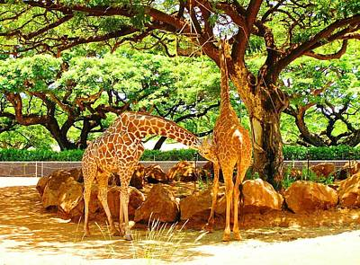 Giraffes Poster by Oleg Zavarzin