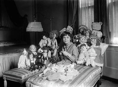 Girl And Dolls, C1910 Poster by Granger