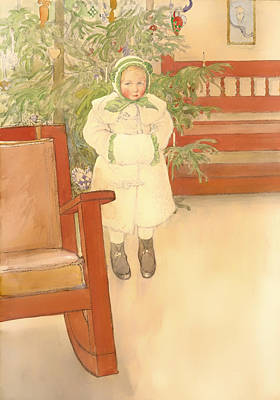 Girl And Rocking Chair Poster by Mountain Dreams