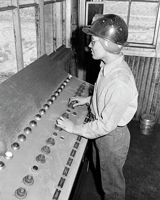 Girl Controls Loading Of Coal Into Cars Poster