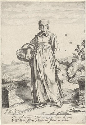 Girl From Fishing Village On The North Sea Coast Poster by Gillis Van Scheyndel (i)