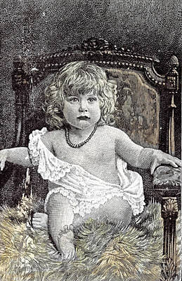 Girl In A Chair Hackney London 1892 Childhood At Home Poster