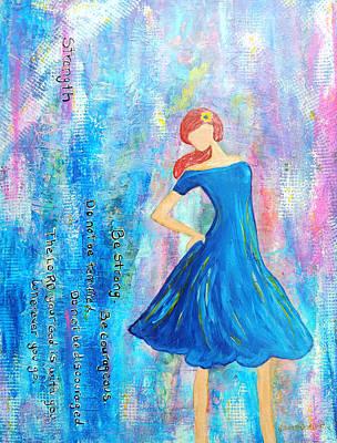 Girl In Blue Dress Poster