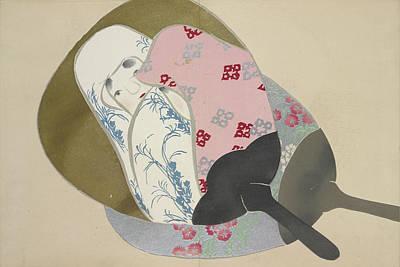 Girl In Fan, Kamisaka, Sekka, Artist, Date Issued 1909 Poster by Artokoloro