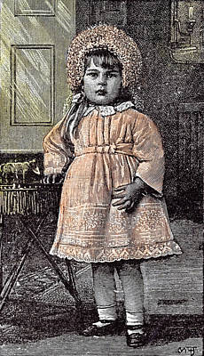 Girl In St Michaels Orphanage Sevenoaks Kent Britain 1892 Poster by English School