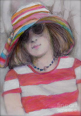 Girl In Sun Hat Poster by Cecily Mitchell