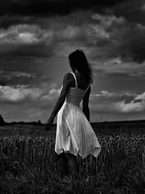 Girl In The Grain Field Poster by Jb Atelier