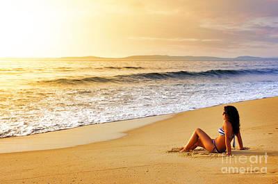 Girl On Seashore  Poster