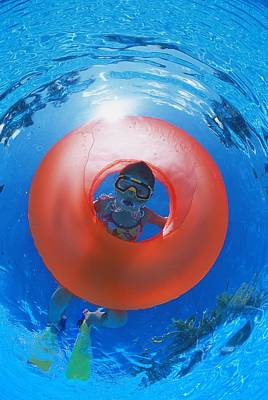 Girl Snorkeling Poster