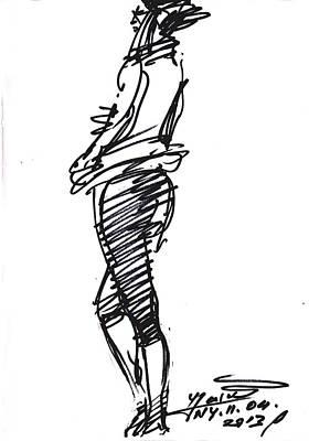 Girl Standing Poster