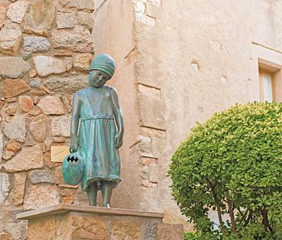 Girl Statue In Tossa De Mar Medievaltown In Catalonia Spain Poster