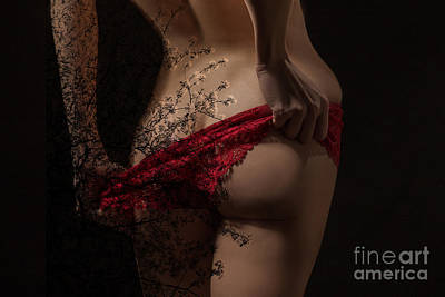 Girl Undressing Poster by Aleksey Tugolukov