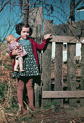 Girl With Doll, C1941 Poster by Granger