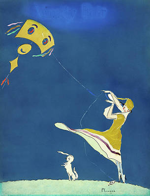 Girl With Kite, C1917 Poster