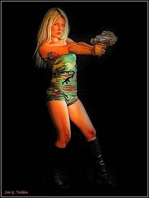Girl With Ray Gun Poster