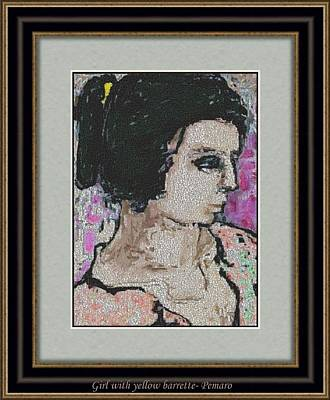 Girl With Yellow Barrette Gwyb2 Poster