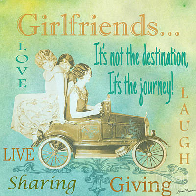 Girlfriends-a Poster by Jean Plout