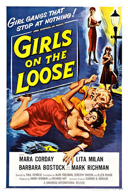 Girls On The Loose, Mara Corday Back Poster