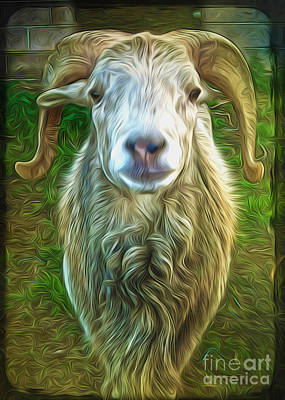 Poster featuring the painting Git Yer Goat by Gregory Dyer