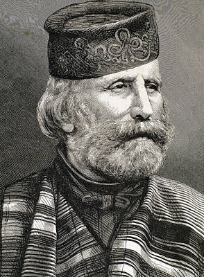 Giuseppe Garibaldi Poster by Bridgeman Images