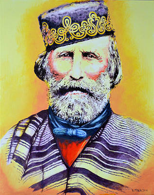 Giuseppe Garibaldi Poster by Victor Minca