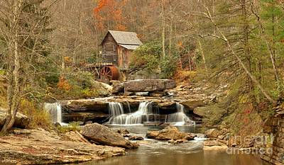 Glade Creek Grist Mill West Virginia Icon Poster by Adam Jewell