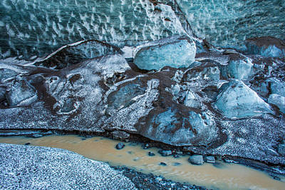 Glacial Ice Cave, Fallsjokull Poster by Panoramic Images