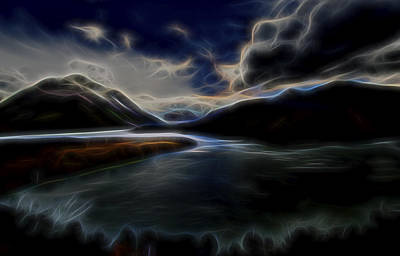 Poster featuring the digital art Glacial Light 1 by William Horden