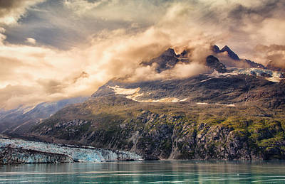 Poster featuring the photograph Glacier And Peaks-glacier Bay National Park by Janis Knight